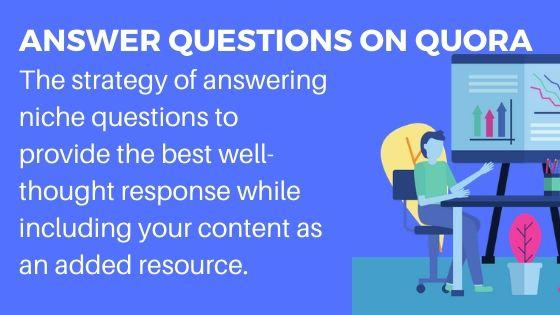 Answer questions on Quora for increase website visitors