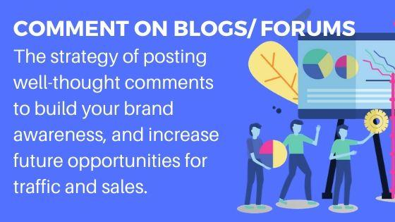 Comment on blogs and forums for more website traffic