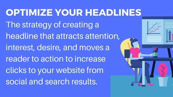 Headlines help increase website traffic