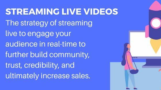 Live Streaming for increase followers and website visitors
