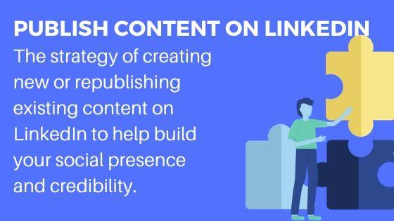 Publishing on LinkedIn for increased traffic