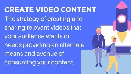 Video Content for more followers and visitors to your website