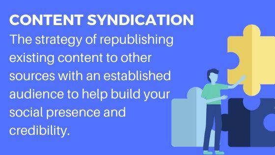 Content Syndication for Brand awareness