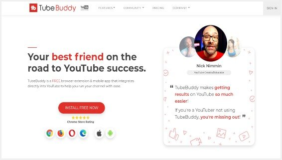 TubeBuddy for Youtube Keyword Research
