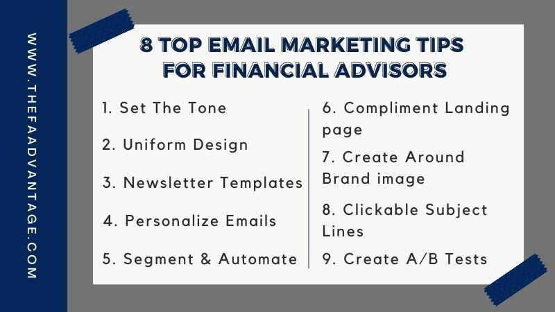 8 email marketing tips for financial advisors