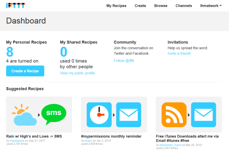 IFTTT for personal branding automation