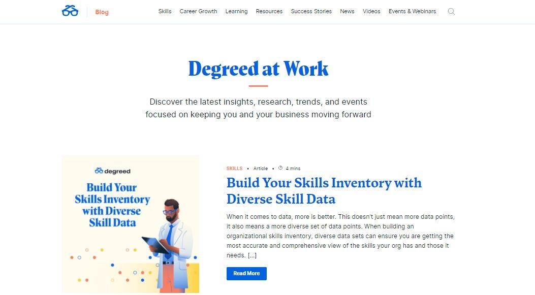 Degreed Thought Leadership Content