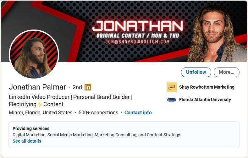Jonathan Palmar on LinkedIn