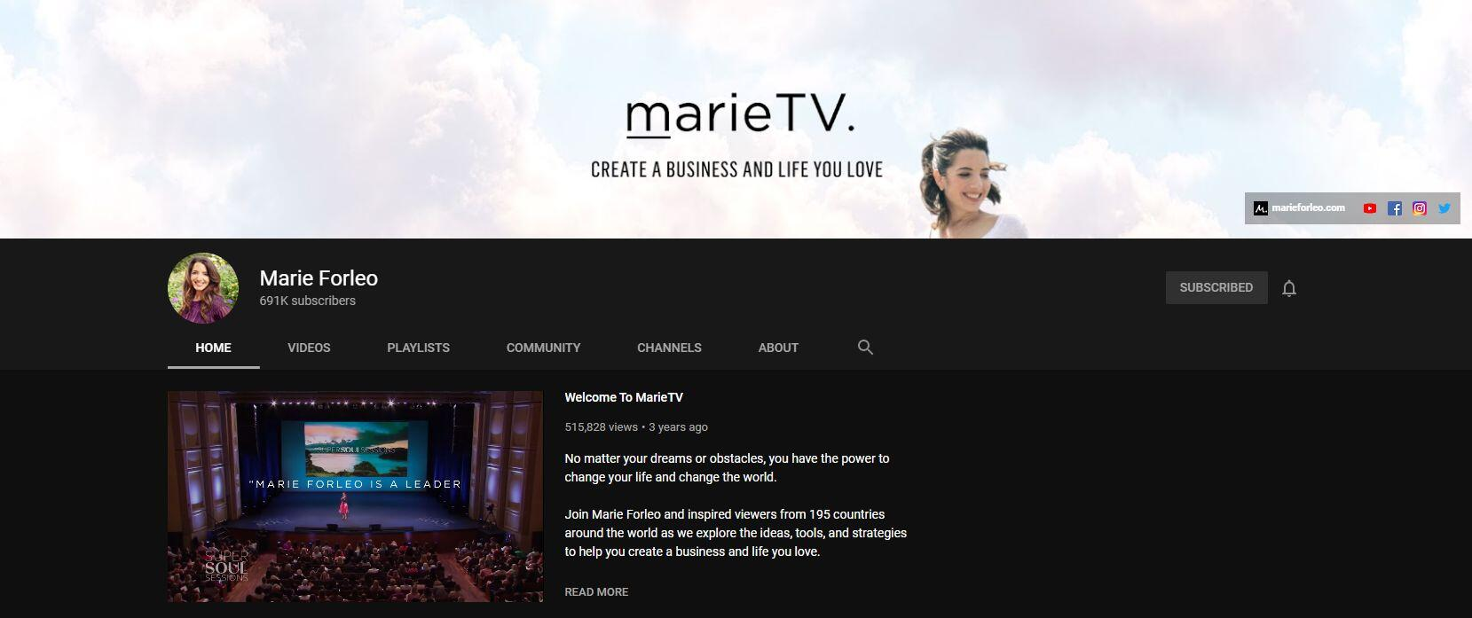 MarieTV Thought Leadership Content Example