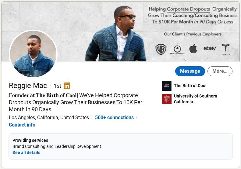 Reggie Mac on LinkedIn