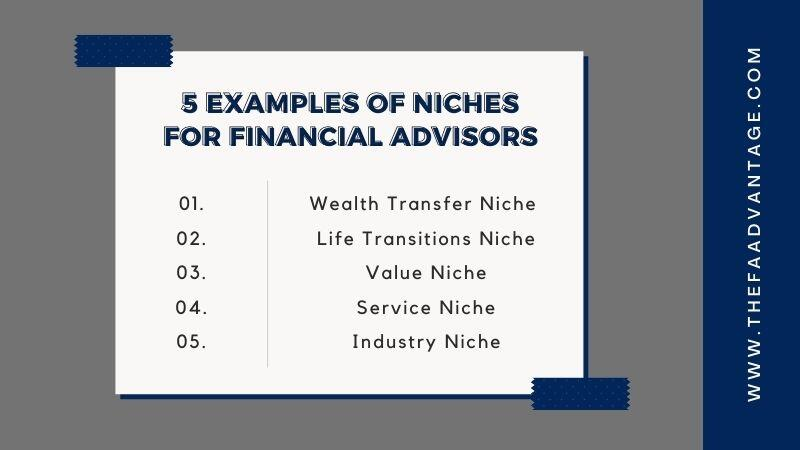 5 examples of niche markets for financial advisors