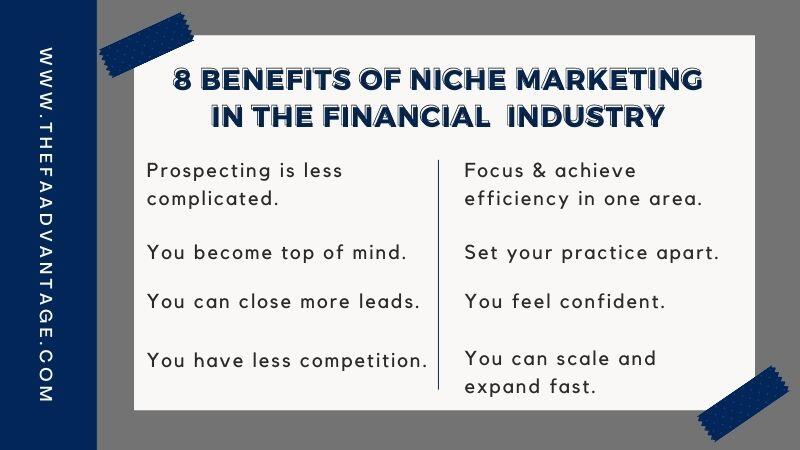 8 benefits of picking a niche for financial advisors