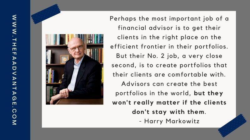 Harry Markowitz quote for financial advisors