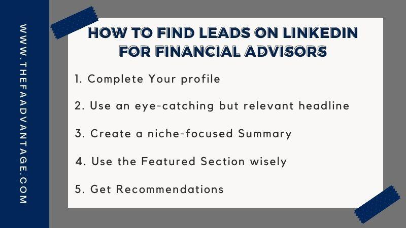 How to find leads on Linkedin For Financial Advisors